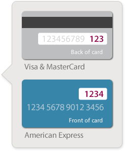 The CVV code can be found on the back of your card.
